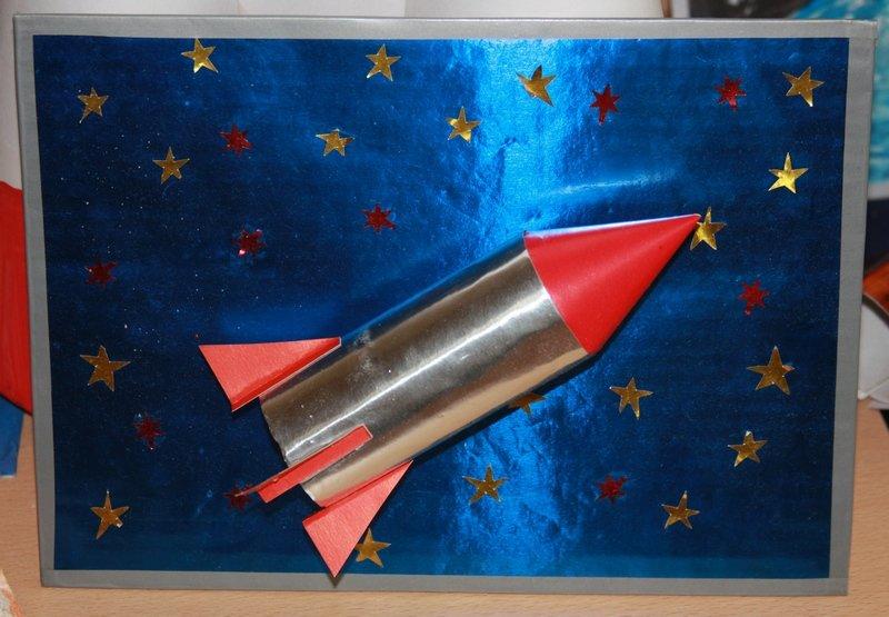 Ракета из бумаги и картона для детей: как сделать своими руками поделку ракету этап 42