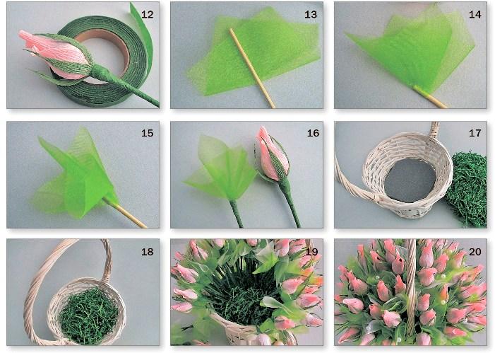 Розы из гофрированной бумаги своими руками: пошаговые инструкции для начинающих этап 35