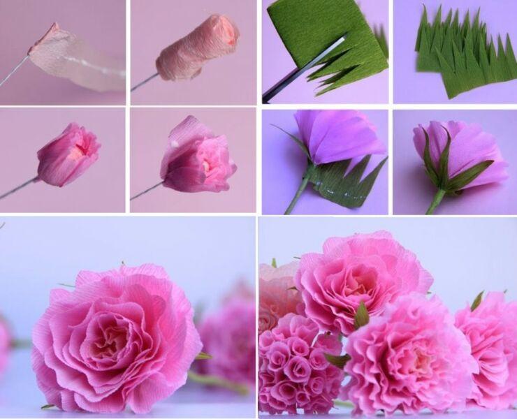 Розы из гофрированной бумаги своими руками: пошаговые инструкции для начинающих этап 32
