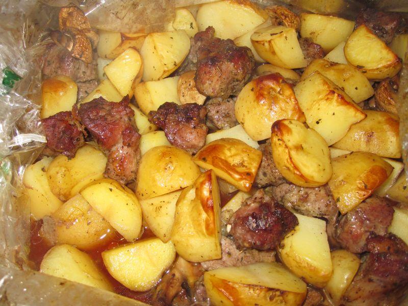 Картошка с мясом в духовке — 6 рецептов этап 6