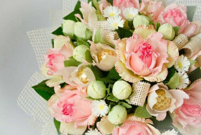 Розы из гофрированной бумаги своими руками: пошаговые инструкции для начинающих этап 25