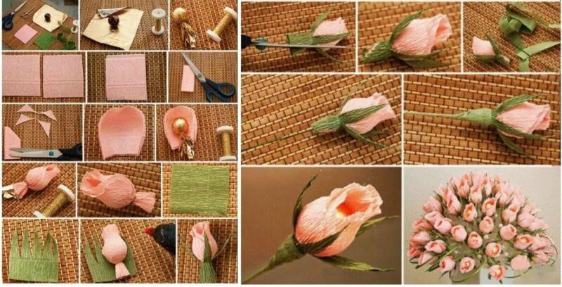 Розы из гофрированной бумаги своими руками: пошаговые инструкции для начинающих этап 23