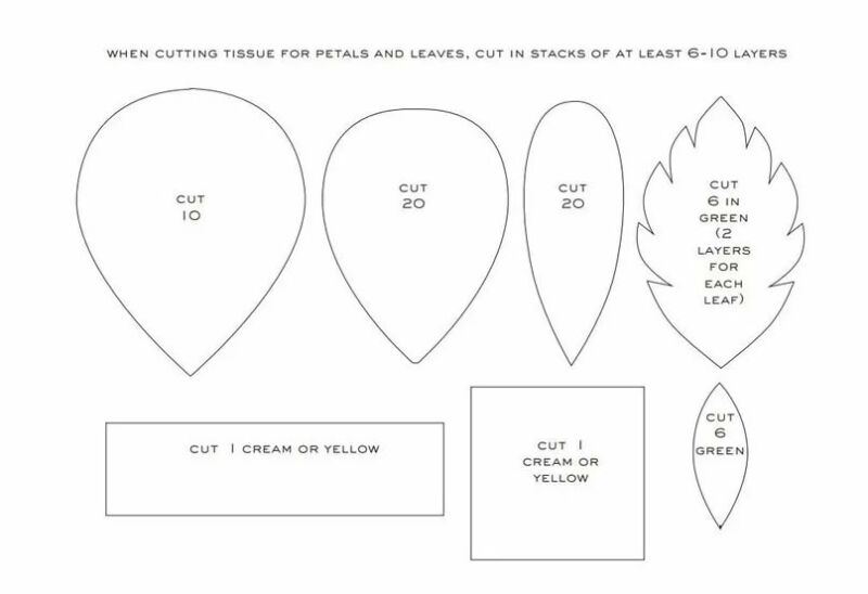 Розы из гофрированной бумаги своими руками: пошаговые инструкции для начинающих этап 56