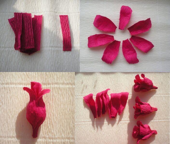 Розы из гофрированной бумаги своими руками: пошаговые инструкции для начинающих этап 37