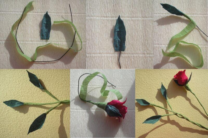 Розы из гофрированной бумаги своими руками: пошаговые инструкции для начинающих этап 38