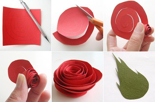 Розы из гофрированной бумаги своими руками: пошаговые инструкции для начинающих этап 39