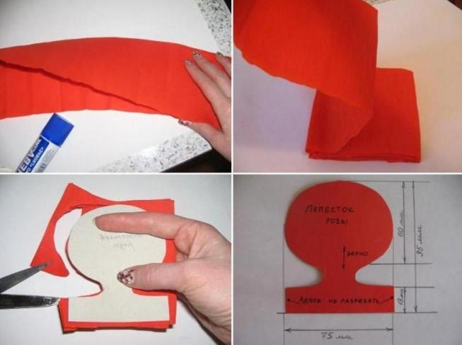 Розы из гофрированной бумаги своими руками: пошаговые инструкции для начинающих этап 41