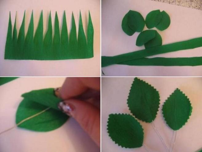 Розы из гофрированной бумаги своими руками: пошаговые инструкции для начинающих этап 43