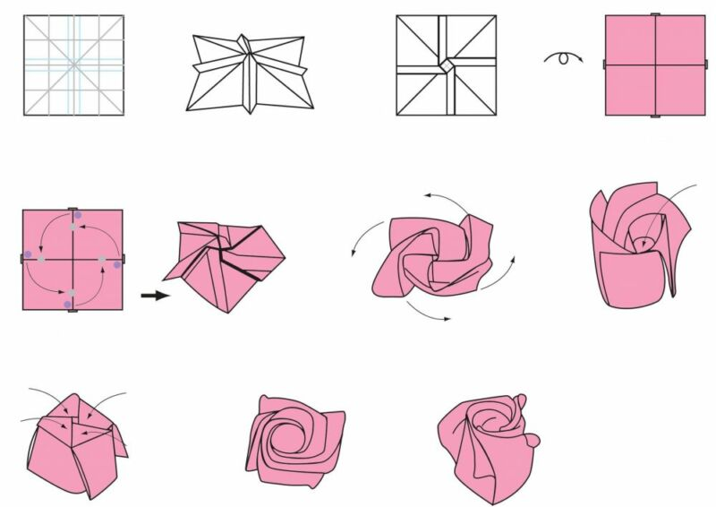 Розы из гофрированной бумаги своими руками: пошаговые инструкции для начинающих этап 36