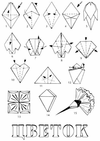 Гвоздики из бумаги своими руками — пошаговые мастер-классы для детей этап 44