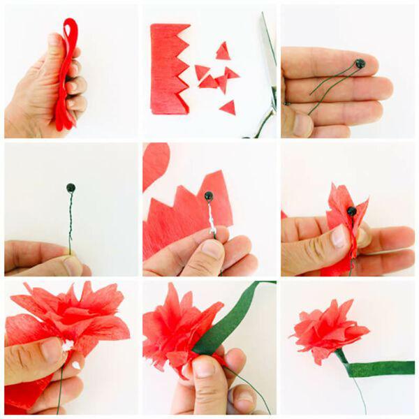 Гвоздики из бумаги своими руками — пошаговые мастер-классы для детей этап 21