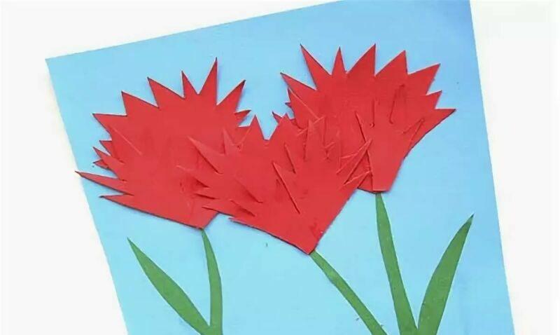 Гвоздики из бумаги своими руками — пошаговые мастер-классы для детей этап 20