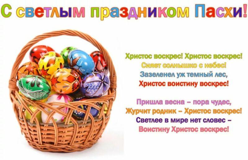 Поздравления на Пасху: красивые, короткие и прикольные стихи с Христовым Воскресеньем этап 16