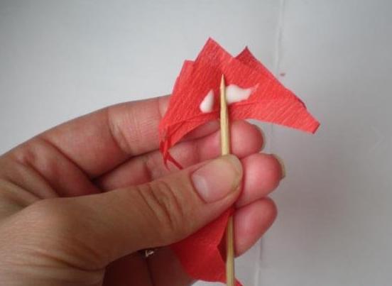 Гвоздики из бумаги своими руками — пошаговые мастер-классы для детей этап 13