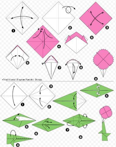 Гвоздики из бумаги своими руками — пошаговые мастер-классы для детей этап 47
