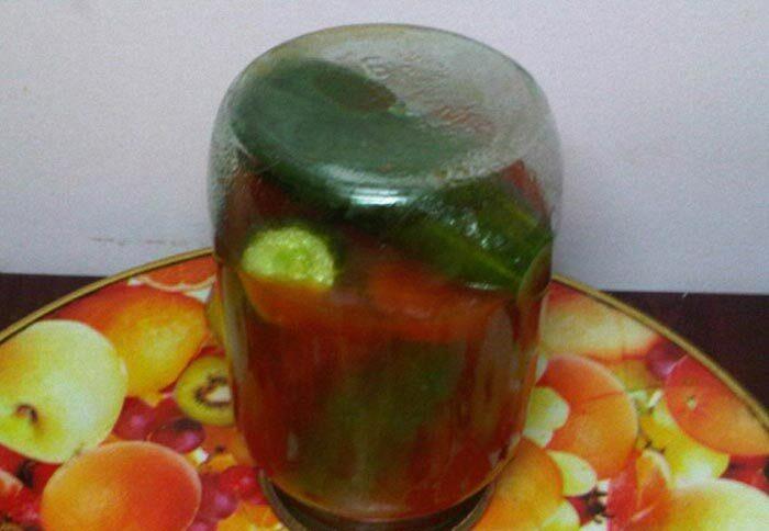 Огурцы в томате на зиму — 6 обалденных рецептов этап 7