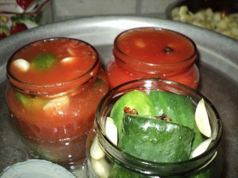 Огурцы в томате на зиму — 6 обалденных рецептов этап 13