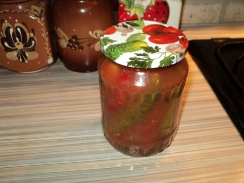 Огурцы в томате на зиму — 6 обалденных рецептов этап 14