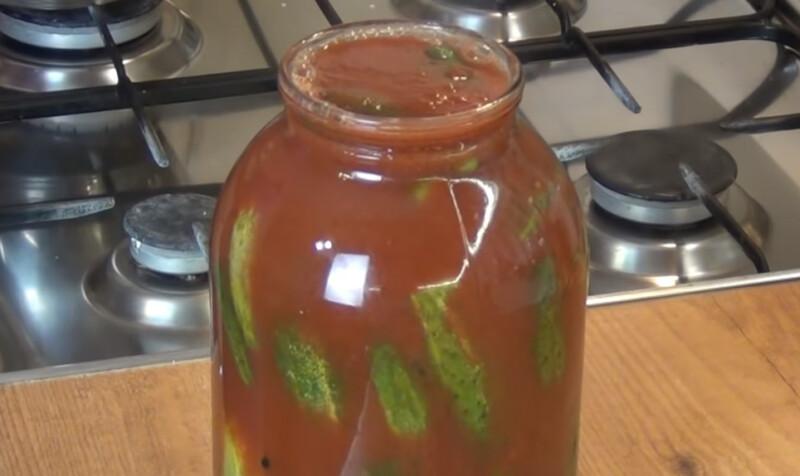 Огурцы в томате на зиму — 6 обалденных рецептов этап 34