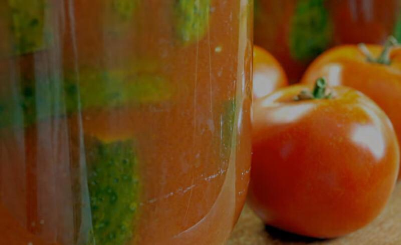 Огурцы в томате на зиму — 6 обалденных рецептов этап 35