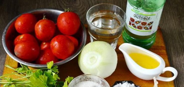 Помидоры дольками с луком и маслом на зиму: рецепты «пальчики оближешь» этап 35
