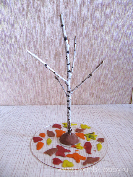 Осенние поделки из листьев своими руками (все новинки для детей детского сада и школы) этап 52