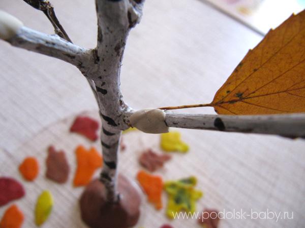 Осенние поделки из листьев своими руками (все новинки для детей детского сада и школы) этап 53