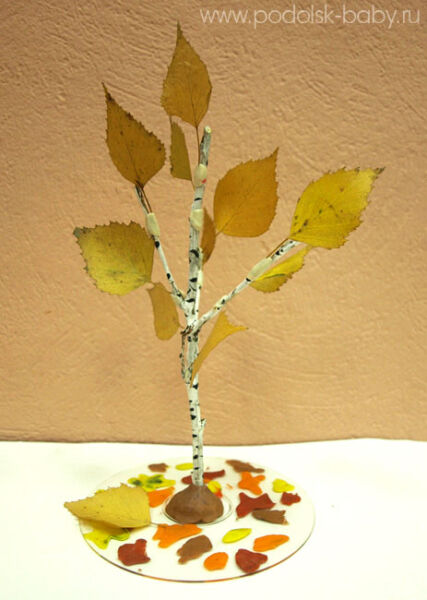 Осенние поделки из листьев своими руками (все новинки для детей детского сада и школы) этап 48