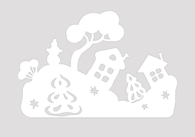 Вытынанки на Новый 2021 год: шаблоны и трафареты для распечатки и вырезания на окна этап 37