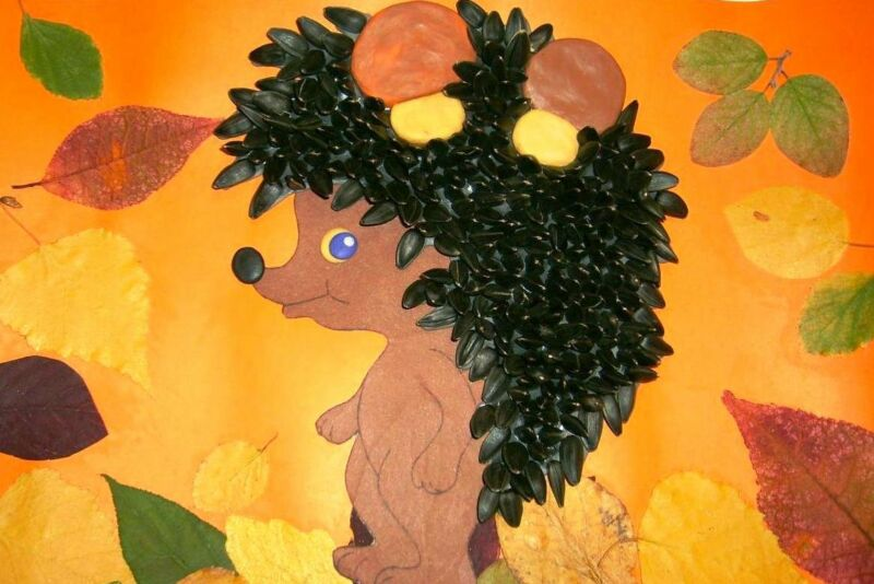 Осенние поделки из листьев своими руками (все новинки для детей детского сада и школы) этап 23