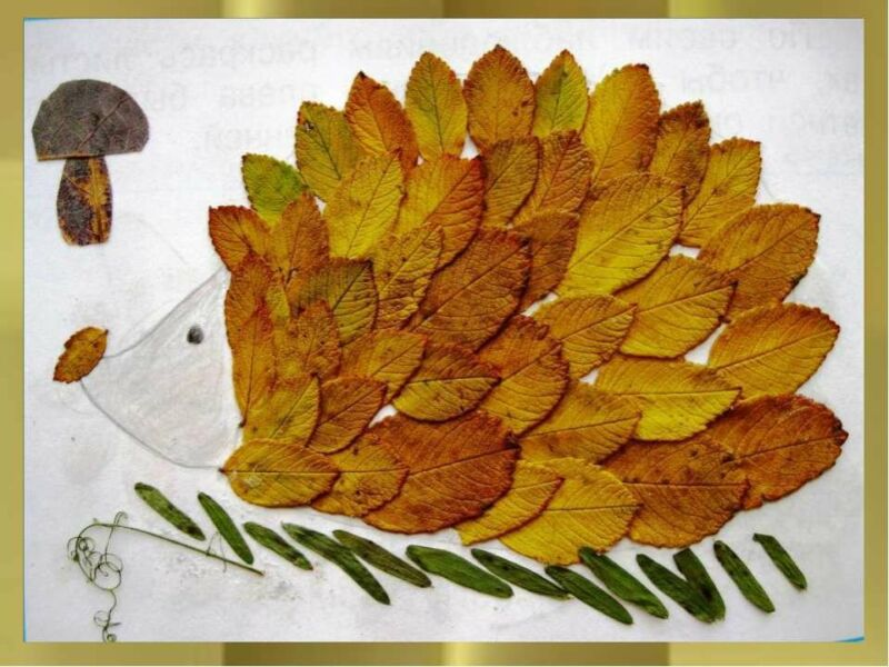 Осенние поделки из листьев своими руками (все новинки для детей детского сада и школы) этап 16
