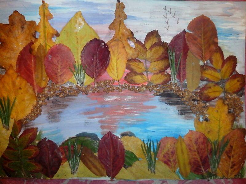Осенние поделки из листьев своими руками (все новинки для детей детского сада и школы) этап 27