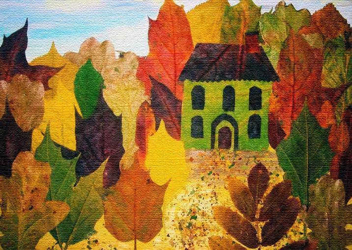 Осенние поделки из листьев своими руками (все новинки для детей детского сада и школы) этап 71