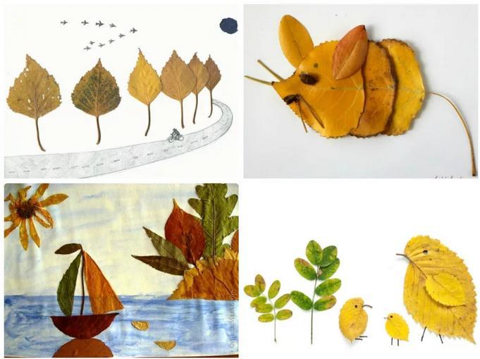 Осенние поделки из листьев своими руками (все новинки для детей детского сада и школы) этап 7