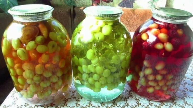 Компот из винограда на зиму — 5 рецептов на 3 литровую банку этап 4