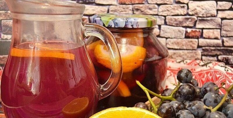 Компот из винограда на зиму — 5 рецептов на 3 литровую банку этап 21