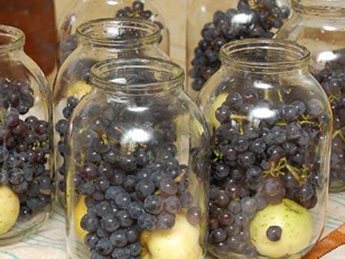 Компот из винограда на зиму — 5 рецептов на 3 литровую банку этап 7