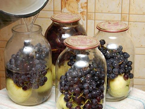 Компот из винограда на зиму — 5 рецептов на 3 литровую банку этап 8