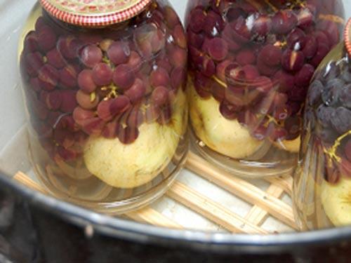 Компот из винограда на зиму — 5 рецептов на 3 литровую банку этап 9