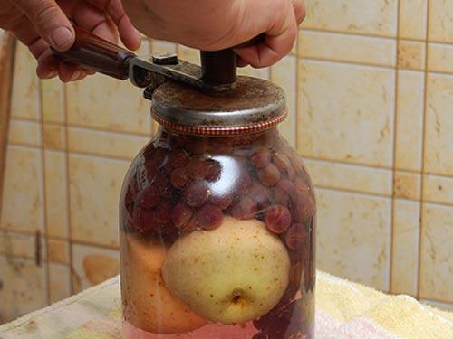 Компот из винограда на зиму — 5 рецептов на 3 литровую банку этап 10