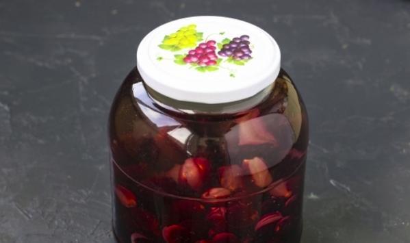Компот из винограда на зиму — 5 рецептов на 3 литровую банку этап 13