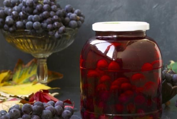 Компот из винограда на зиму — 5 рецептов на 3 литровую банку этап 14