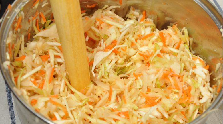 Квашеная капуста в рассоле на зиму: рецепты быстрого приготовления в банке этап 47