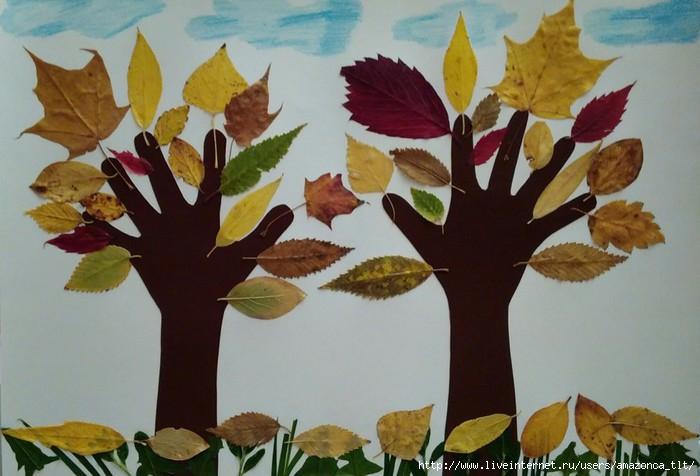 Осенние поделки из листьев своими руками (все новинки для детей детского сада и школы) этап 26