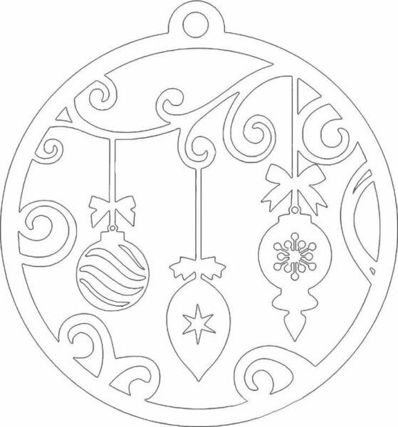 Вытынанки на Новый 2021 год: шаблоны и трафареты для распечатки и вырезания на окна этап 19
