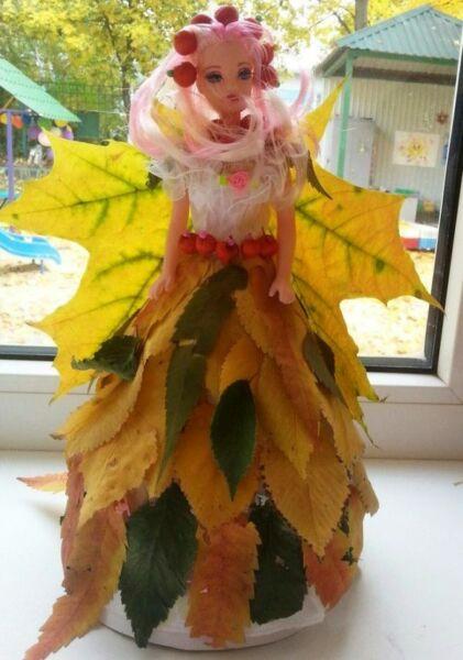 Осенние поделки из листьев своими руками (все новинки для детей детского сада и школы) этап 13