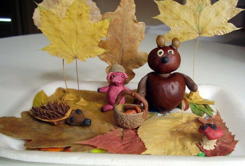 Осенние поделки из листьев своими руками (все новинки для детей детского сада и школы) этап 24