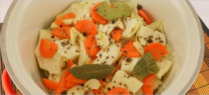 Маринованная капуста пилюска — 6 рецептов быстрого приготовления вкусной капусты этап 44