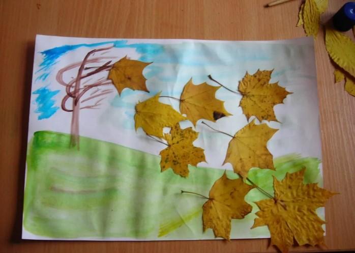 Осенние поделки из листьев своими руками (все новинки для детей детского сада и школы) этап 64