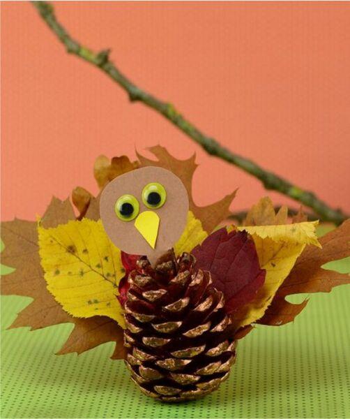 Осенние поделки из листьев своими руками (все новинки для детей детского сада и школы) этап 30